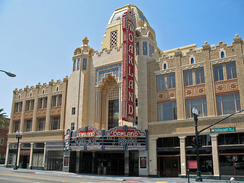 Fox Oakland Theatre, Oakland, California by Sanfranman59 via Wikimedia Commons