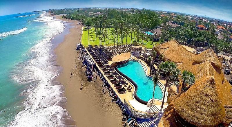 Bali finns beach club aerial view