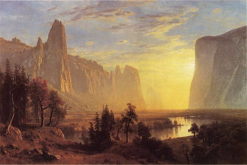 Oakland Museum of California - Yosemite Valley by Bierstadt Albert