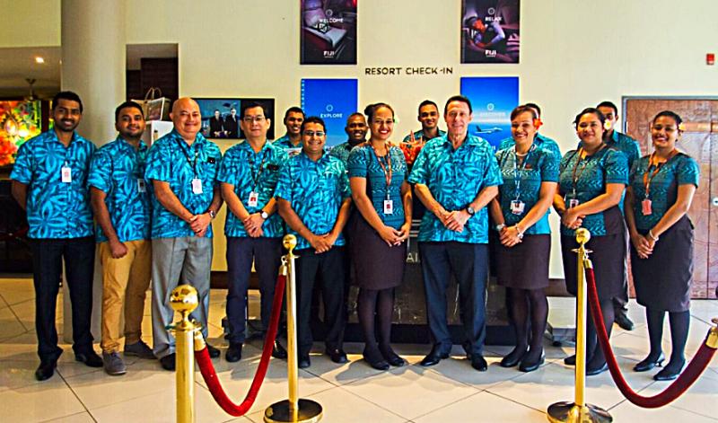 Aviation-fiji-airlines-Resort CheckIn-Launch-Group-photo