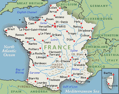 Map Of France France.Map Of France