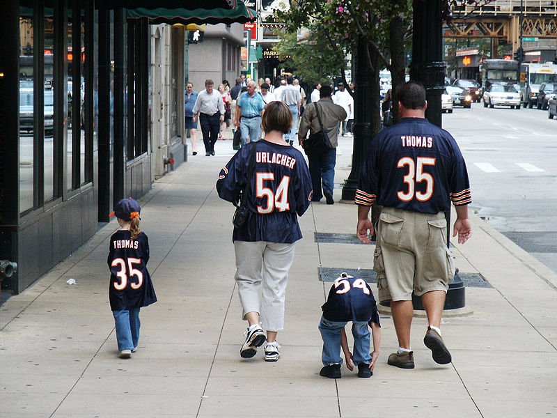 Chicago-Bears-fans, Family