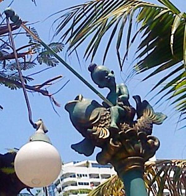 pattaya, thailand. street lamps. accidental travel writer