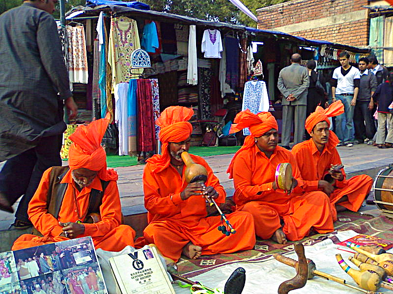 India Dilli Haat bazaar, or street market, in New Delhi. Photo Credit - via Wikimedia Commons