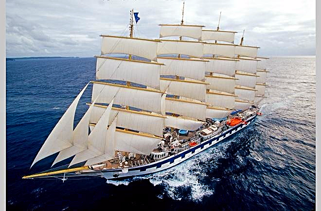Star Clipper fully rigged tall sailing vessel