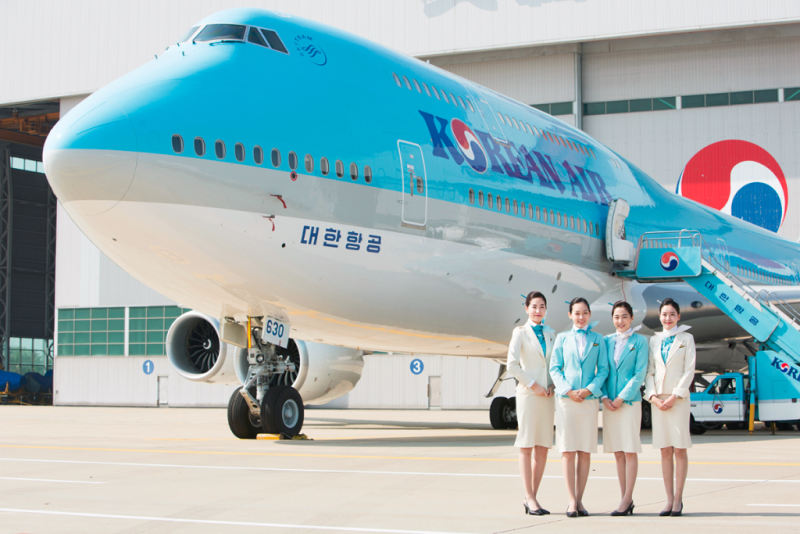 Korean Air  Boeing 747-8 at Seoul Incheon International Airport.