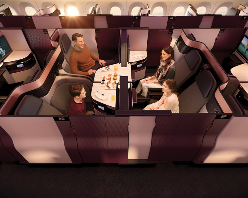 AviationQatar Airways Business Class_quadrants