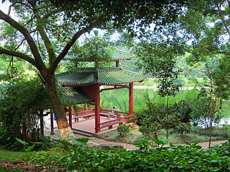 Qifeng Lake in Dongguan, China.