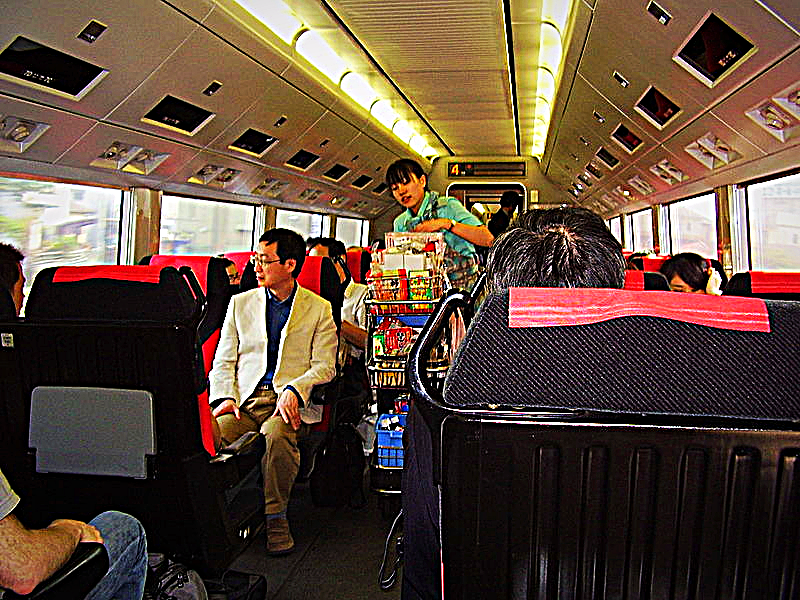 Narita Express Cabin going to Tokyo