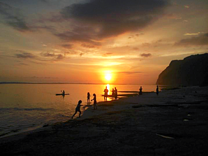 Bali karma kandara sunset in beach