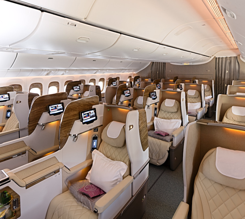Aviation-emirates-airline-Business-Class-Cabin-on-Boeing-777---300ER